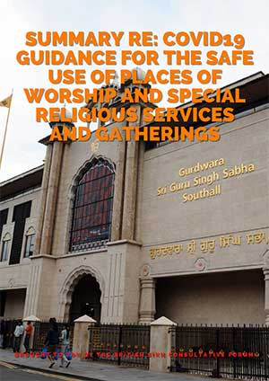 Covid19 guidance for the safe use of places of worship