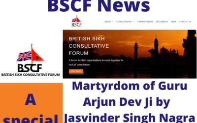 BSCF-A special June edition- Martyrdom of Guru Arjun Dev Ji